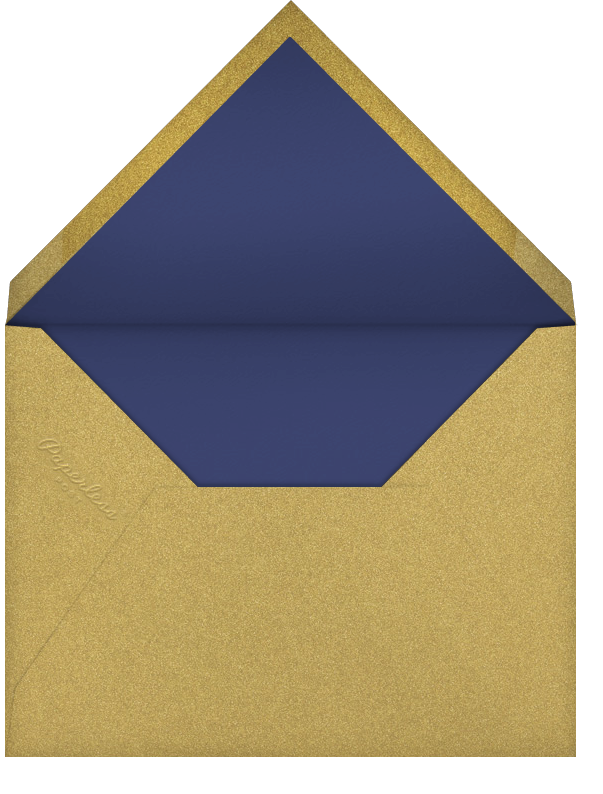 Golden Pineapple - Royal Blue - Paperless Post - Personalized stationery - envelope back