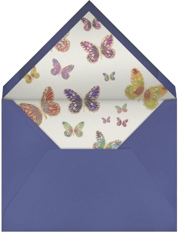Hand Painted Butterfly (Stationery) - Green Pink - Bernard Maisner - Envelope