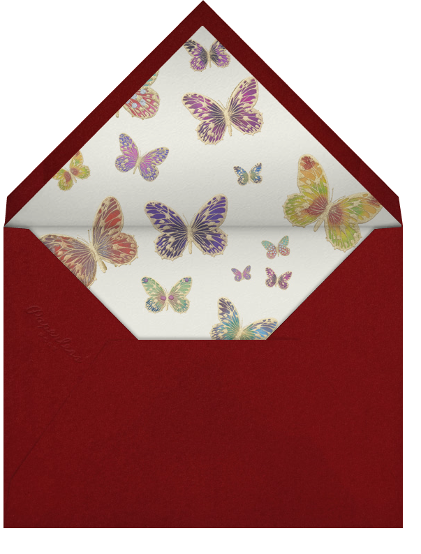 Hand Painted Butterfly (Stationery) - Red Yellow Green - Bernard Maisner - Envelope