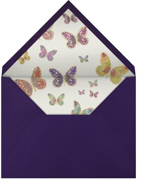 Hand Painted Butterfly (Stationery) - Purple - Bernard Maisner - Envelope