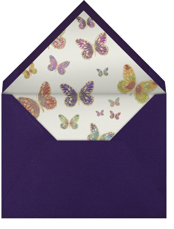 Hand Painted Butterfly - Pink Purple - Bernard Maisner - Wedding - envelope back