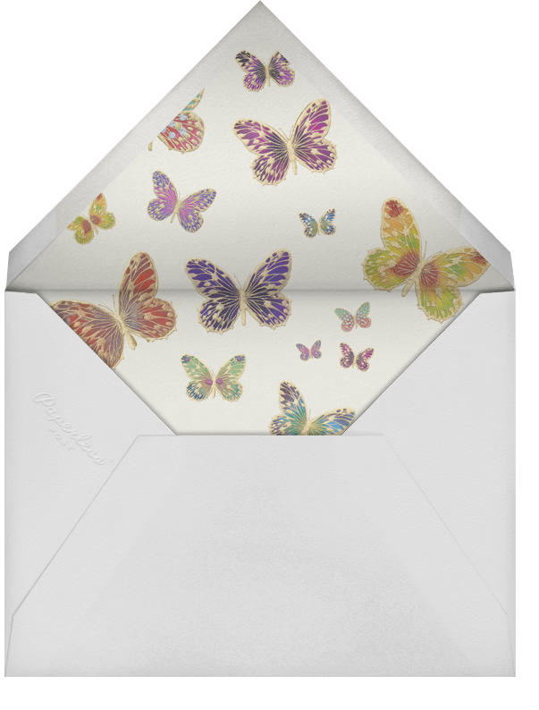 Hand Painted Butterfly (Stationery) - Green Purple - Bernard Maisner - Personalized stationery - envelope back