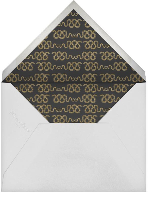 Hand Painted Snake - Yellow Blue - Bernard Maisner - Envelope
