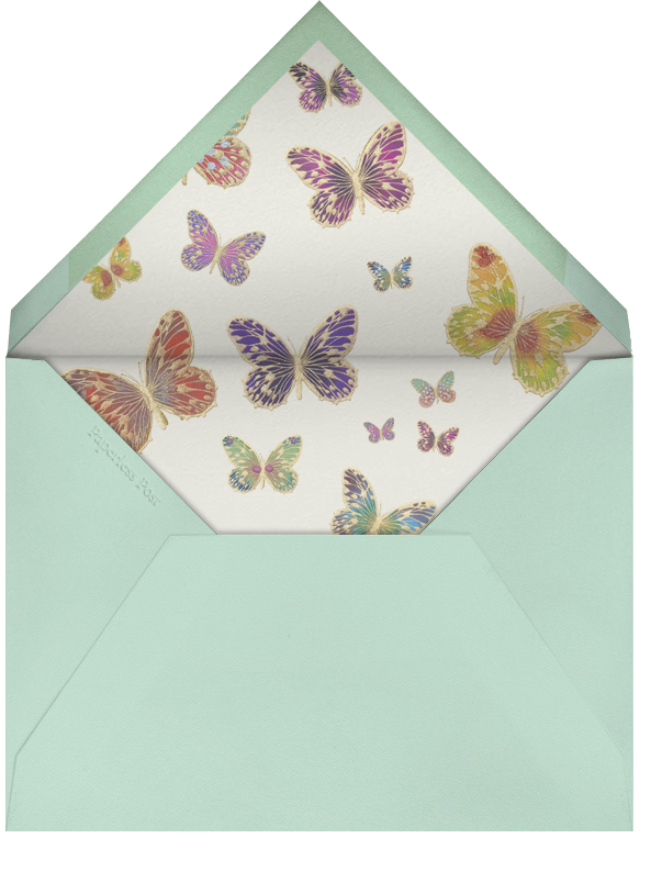 Hand Painted Butterfly (Stationery) - Red Teal - Bernard Maisner - Envelope
