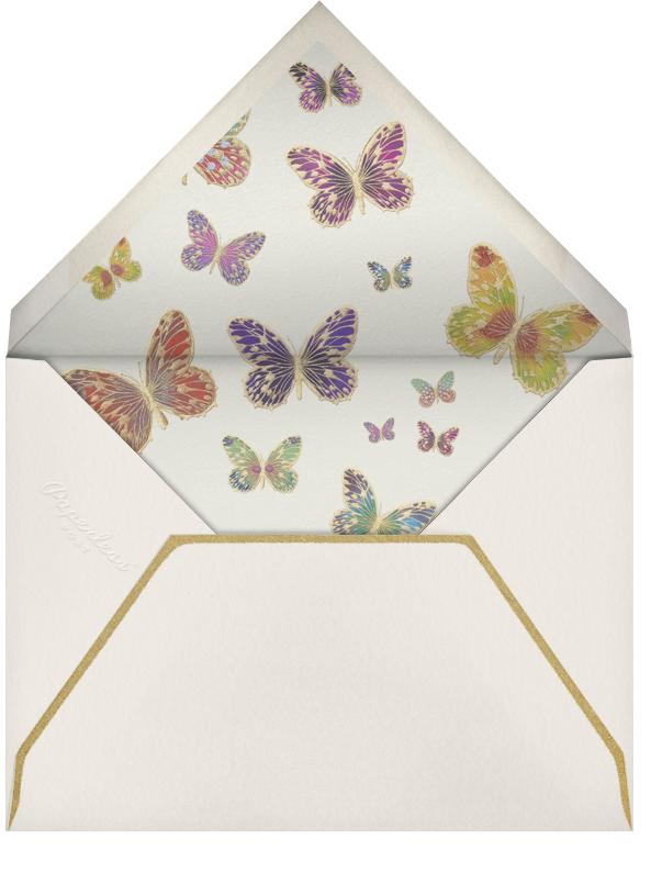 Hand Painted Butterfly - Red Yellow Green - Bernard Maisner - General entertaining - envelope back