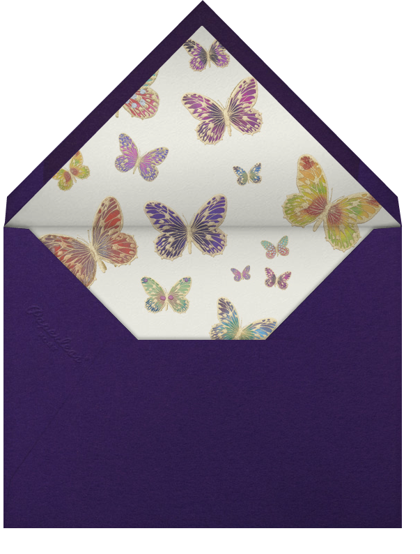 Hand Painted Butterfly - Pink Purple - Bernard Maisner - General entertaining - envelope back