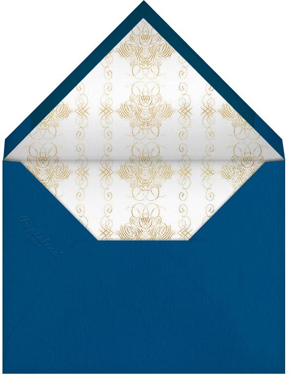 Hand Painted Snake - Blue Pink - Bernard Maisner - null - envelope back