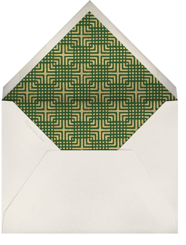 Holly Garland (Metallic Gold) - Paperless Post - Company holiday party - envelope back