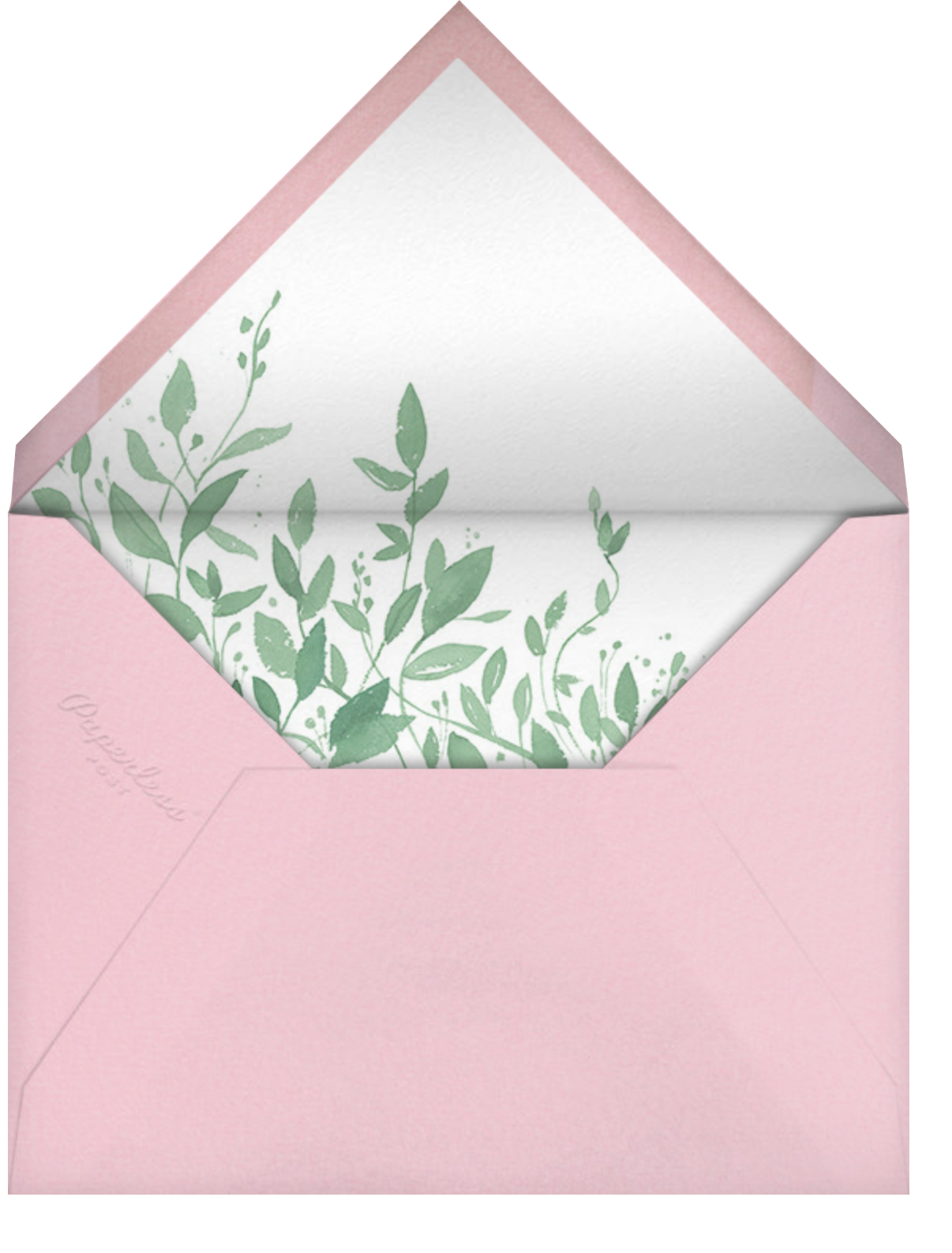 Queen Anne's Lace (Cream) - Paperless Post - Envelope