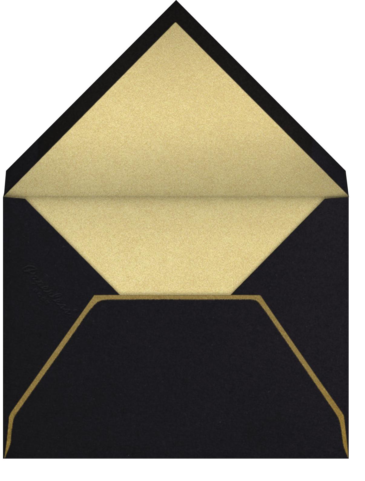 Scallop Shell - Gold - Bernard Maisner - Beach party - envelope back