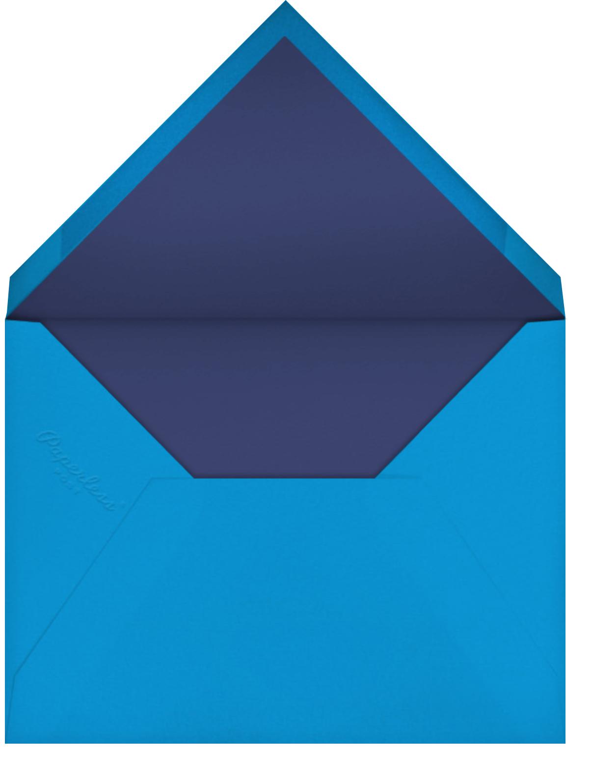 Scallop Shell - Purple Blue - Bernard Maisner - Engagement party - envelope back