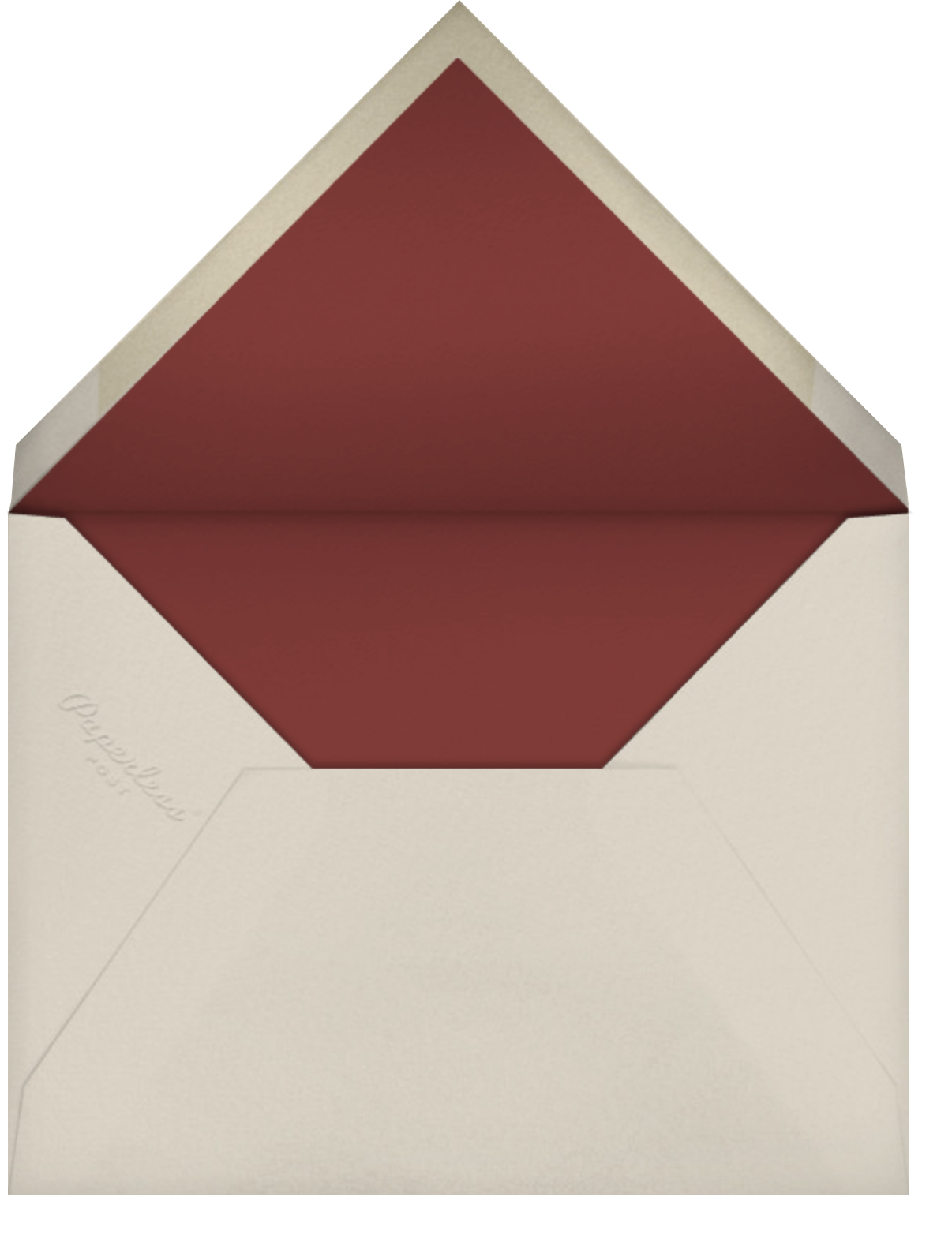 Hand Painted Scallop Shell - Purple Maroon - Bernard Maisner - Engagement party - envelope back