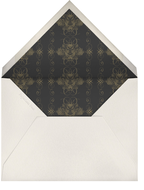 Wicked Witch (Gold Border) - Paperless Post - Halloween - envelope back