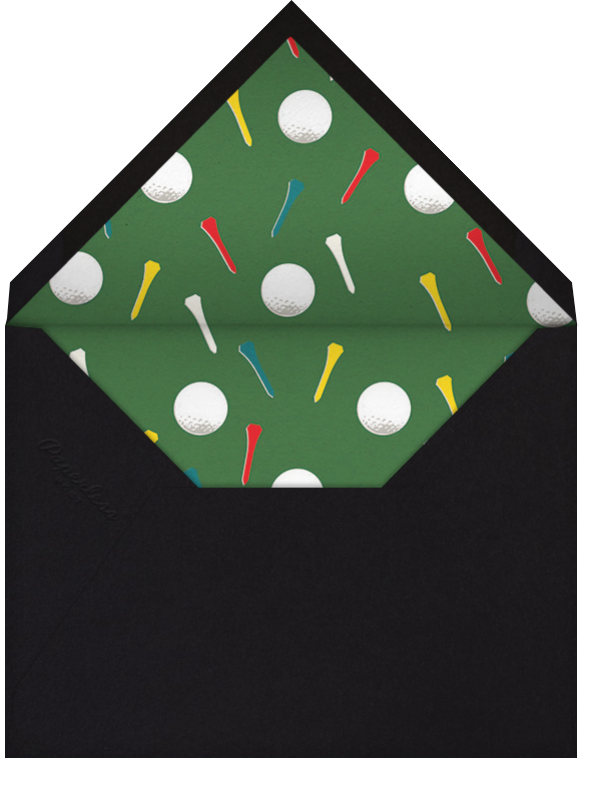 Golf Ball - Dune - Paperless Post - Father's Day - envelope back