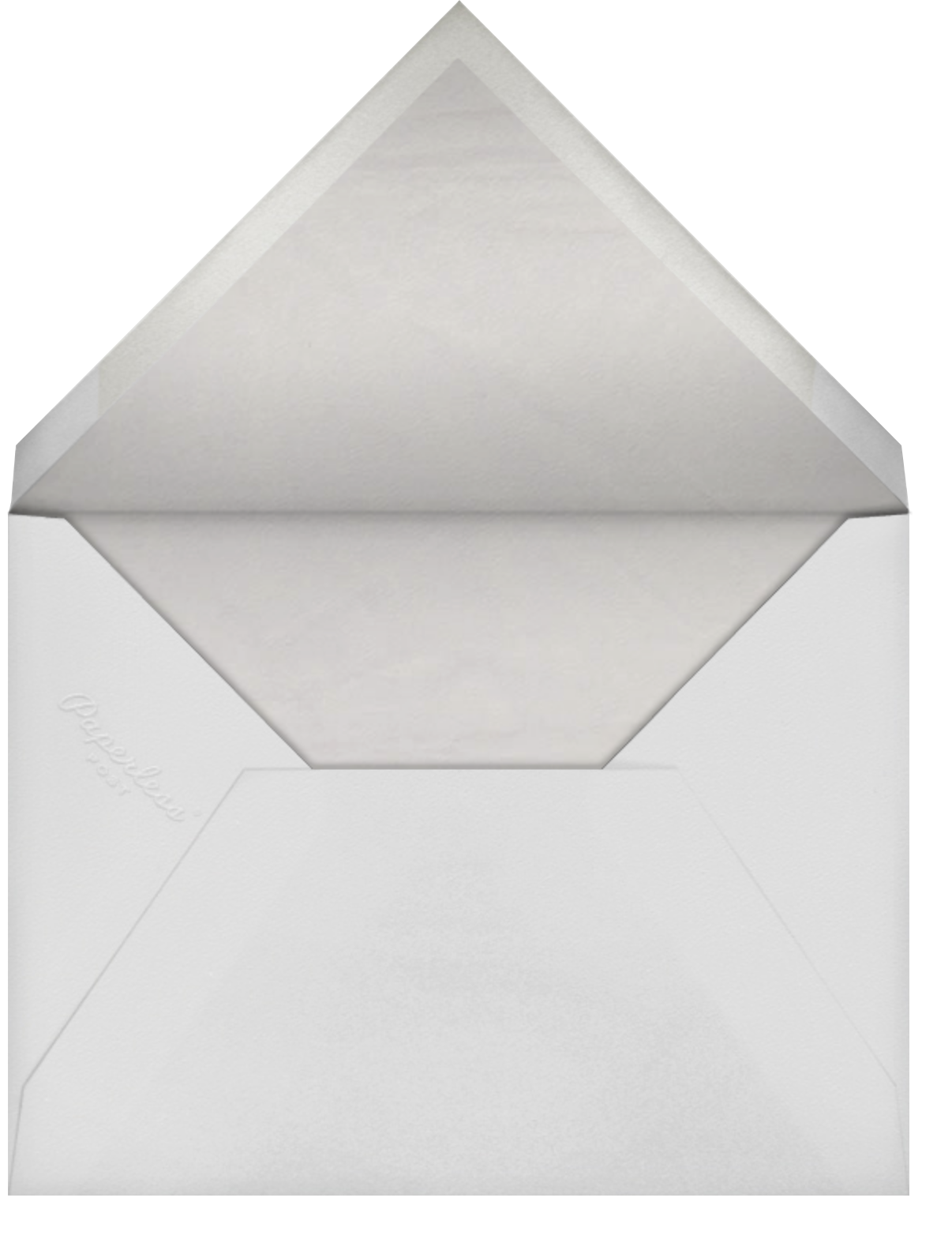 Damask - Greige with Frost (Border) - Paperless Post - Envelope