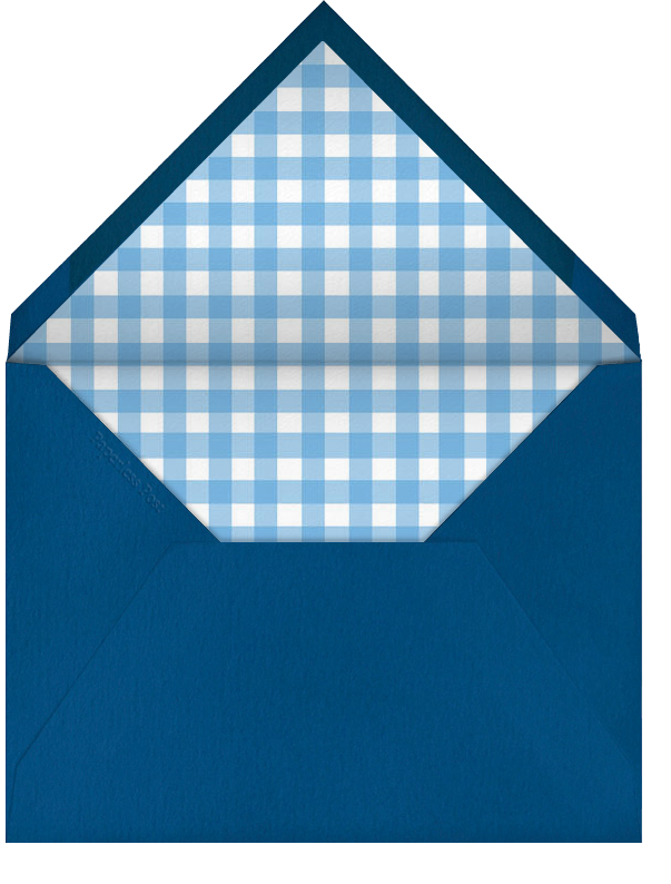 Gingham Pacific Blue - Paperless Post - Envelope