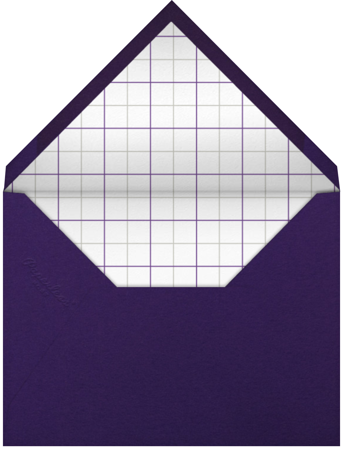 Lilac - Thinking of You - Paperless Post - Thinking of you - envelope back