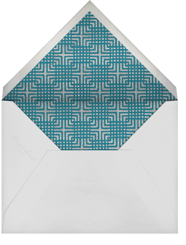 Modern Pomegranate - Paperless Post - Rosh Hashanah - envelope back