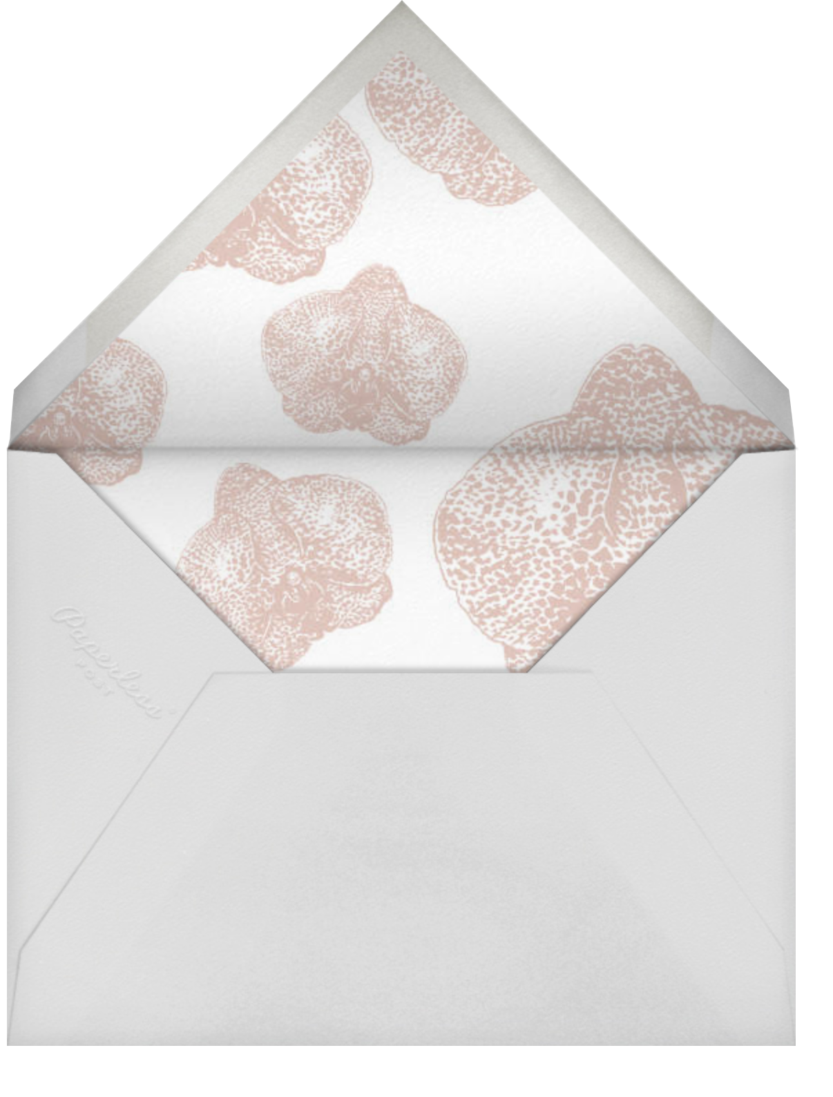 Orchid - Ivory with Rose (Thank You) - Paperless Post - Envelope