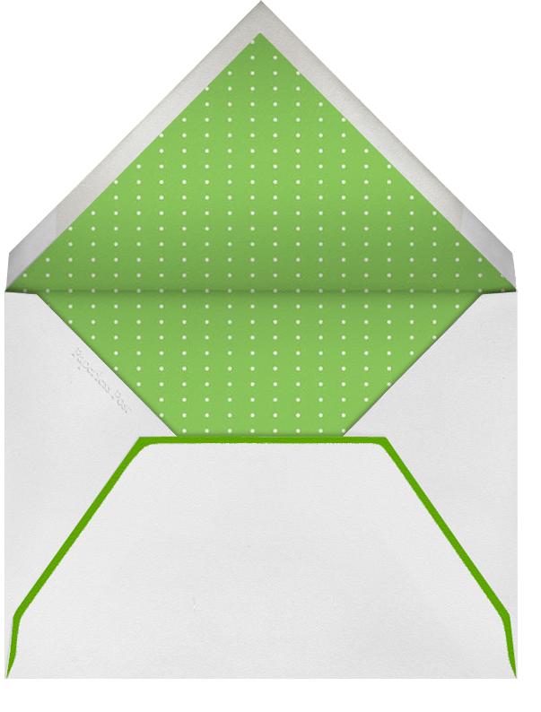 Our Giddy Bride - Lagoon - Mr. Boddington's Studio - Bridal shower - envelope back