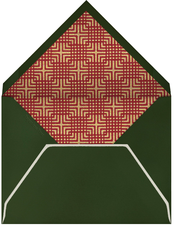 Sleigh - Paperless Post - Christmas - envelope back