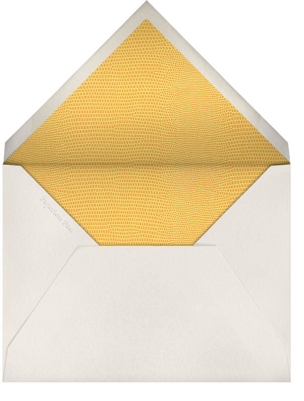 Snakeskin (Gold) - Paperless Post - Adult birthday - envelope back