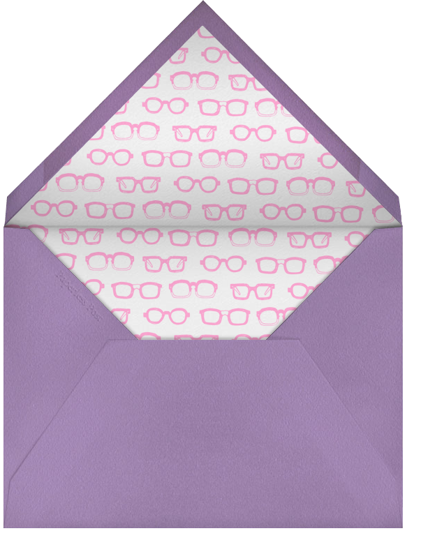 Lilac - Pale Purple Stripe - Paperless Post - Kids' stationery - envelope back