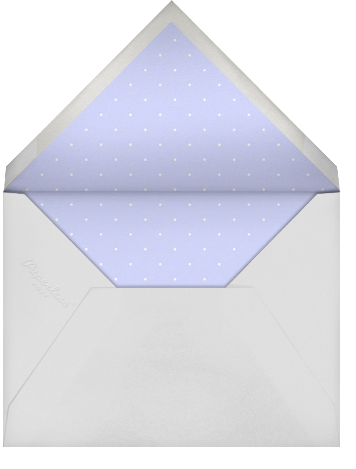 Oh Lovely Day - Wisteria - Mr. Boddington's Studio - Engagement party - envelope back