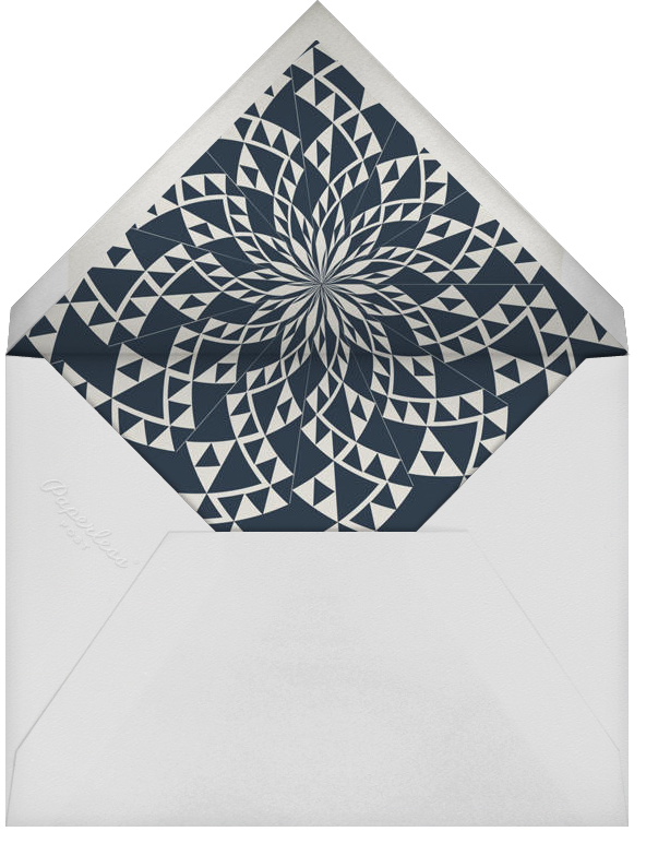 Deco Border - Midnight - Paperless Post - Adult birthday - envelope back