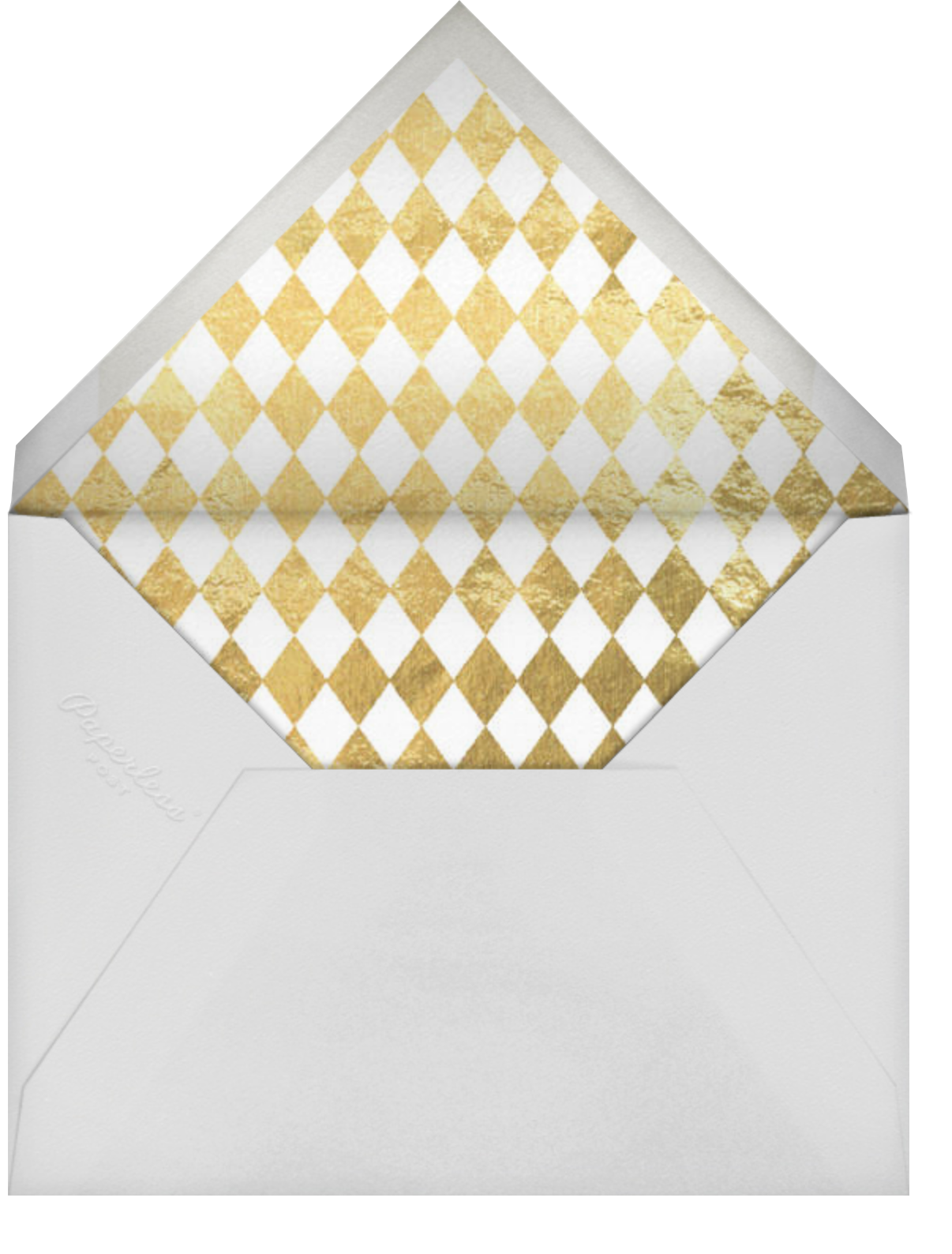 Gold Edge (Midnight) - Paperless Post - null - envelope back