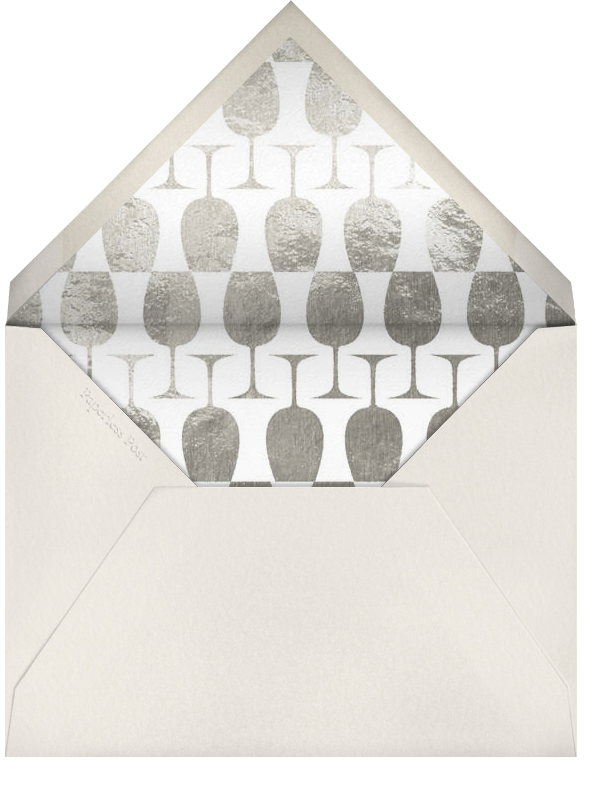 Wineglass Foil (Midnight) - Paperless Post - Adult birthday - envelope back
