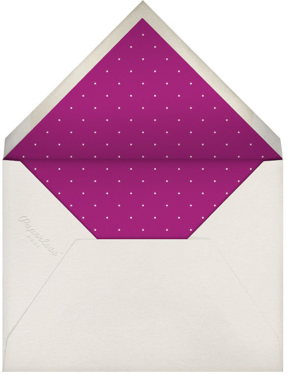 Pistachio - Royal Purple Dotted - Paperless Post - null - envelope back