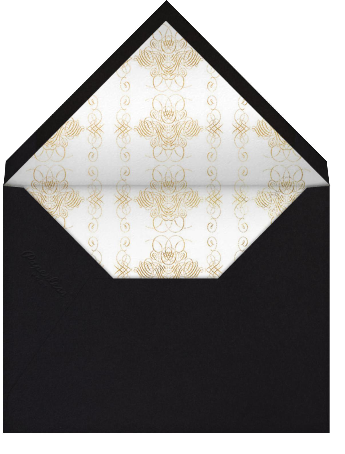 You're Invited - Black Flourished - Bernard Maisner - Graduation party - envelope back