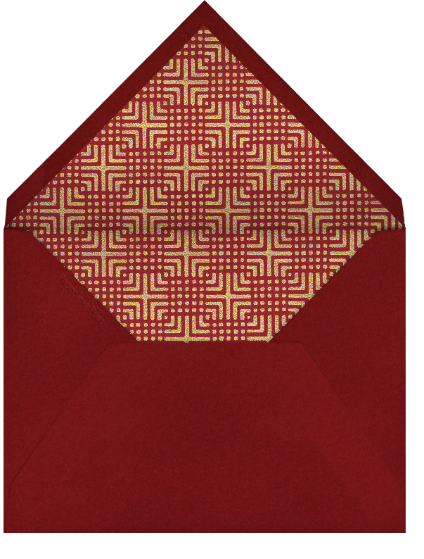 Peach Blossoms - Paperless Post - Lunar New Year - envelope back