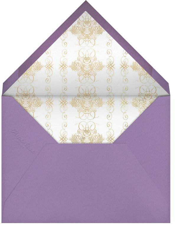 Hand Painted Bird of Paradise - Purple - Bernard Maisner - General entertaining - envelope back