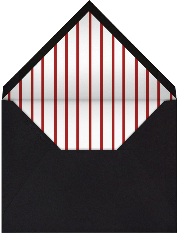 Lace Heart (Black Red) - Paperless Post - Envelope