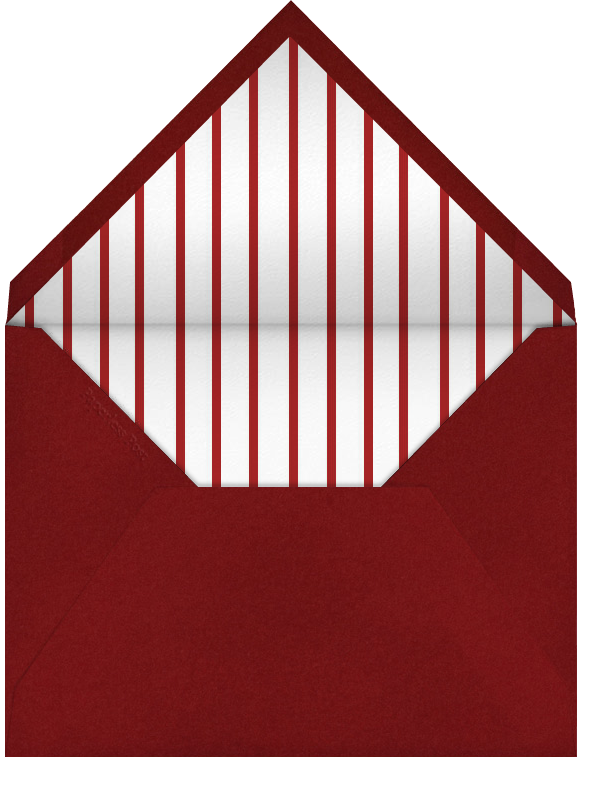 Lace Heart (Red) - Paperless Post - Envelope