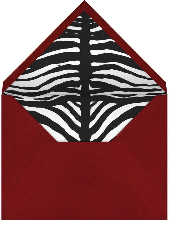 Zebra Birthday - Paperless Post - Birthday - envelope back