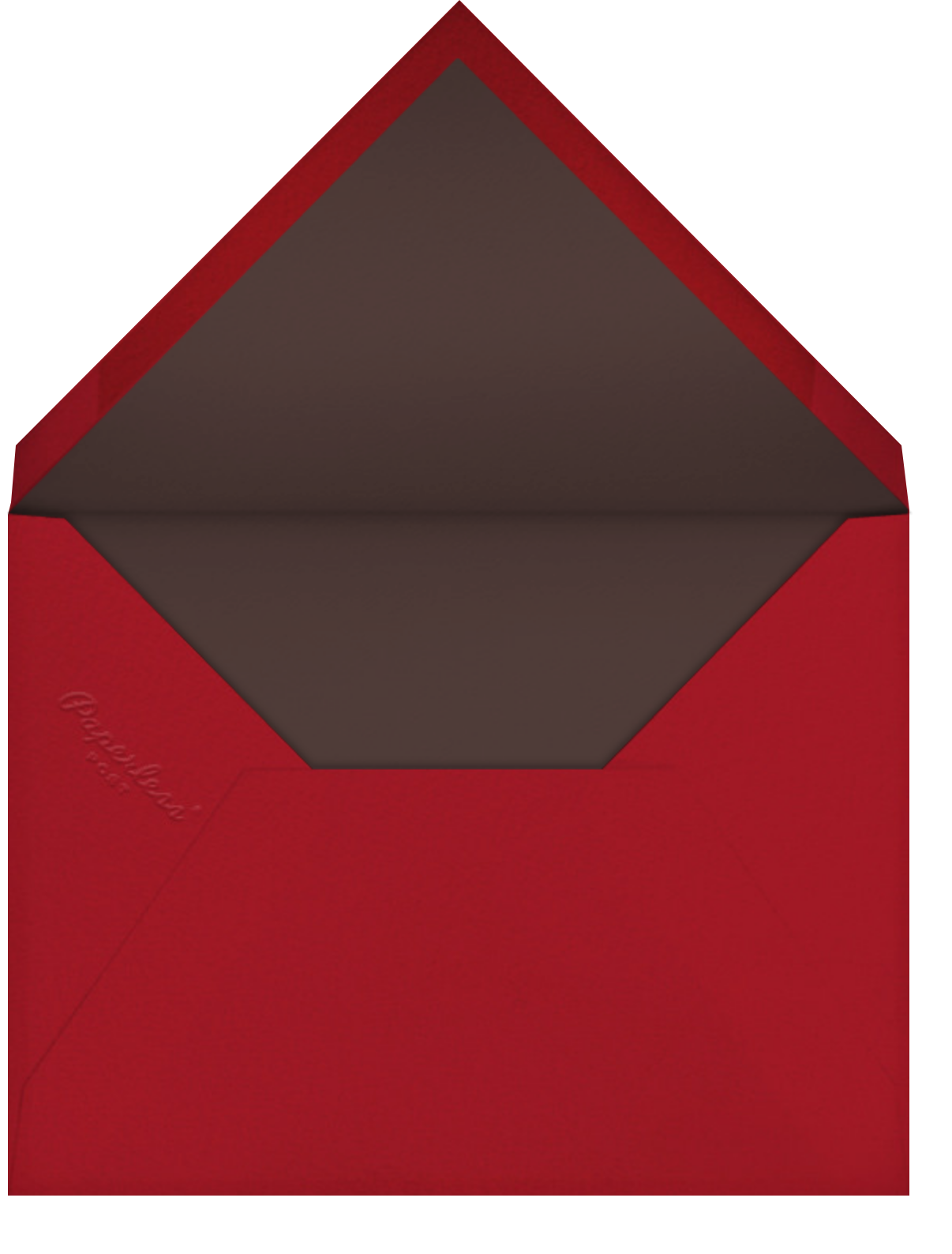 Valrhona Tartan - Paperless Post - Holiday cards - envelope back