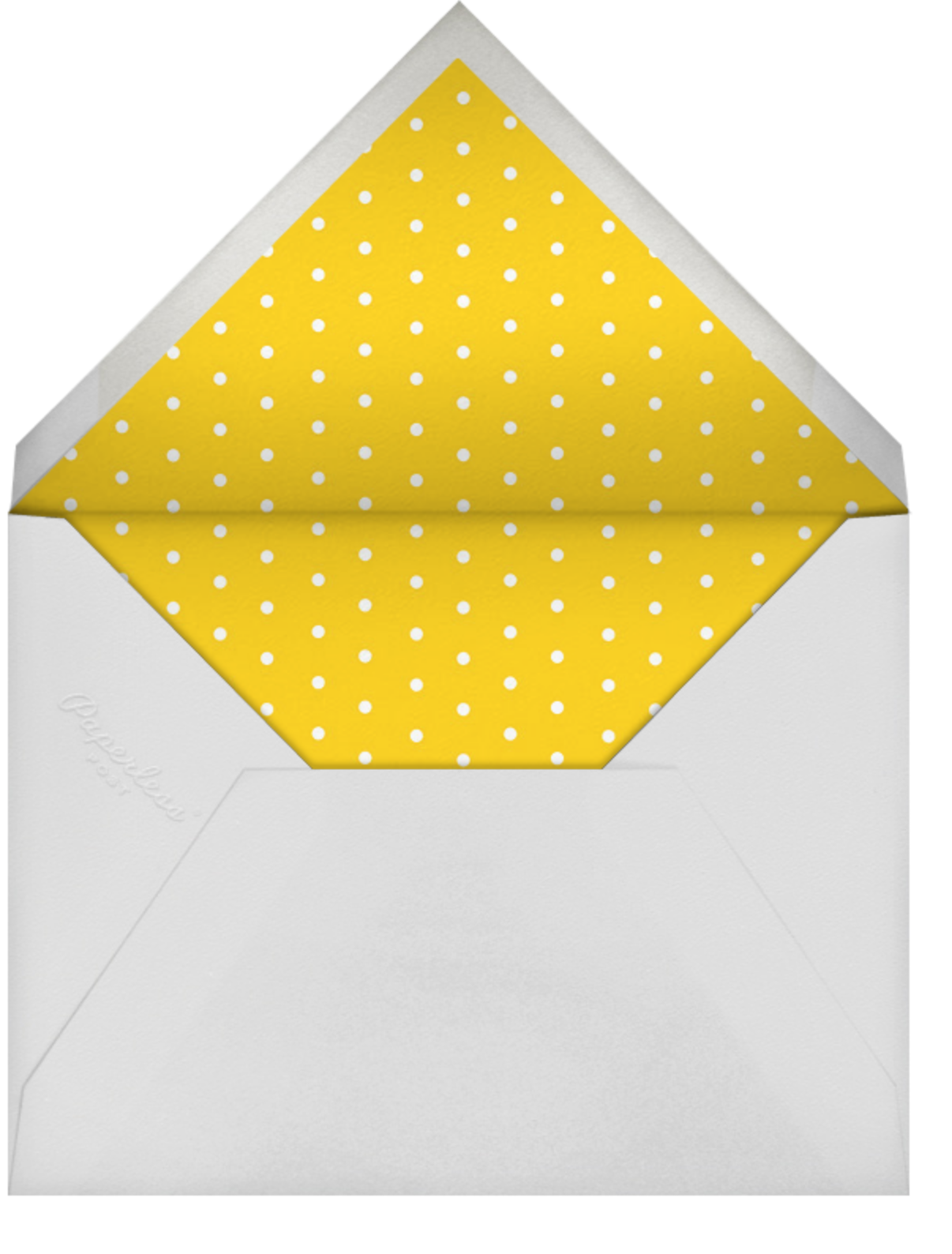 Hot Air Balloon Cluster - White/Mustard - Paperless Post - Retirement party - envelope back