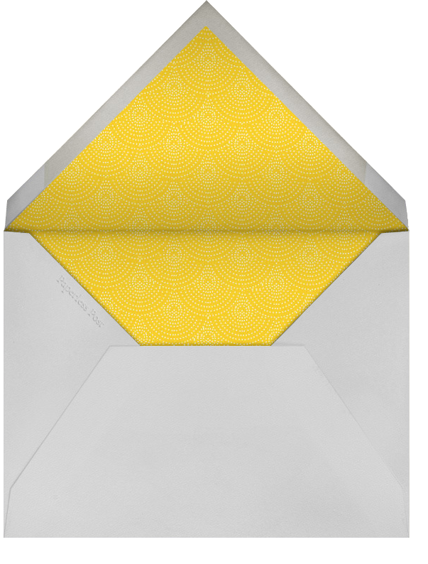 Ikat - Gray with Winter Gray and Citrus - Paperless Post - Envelope