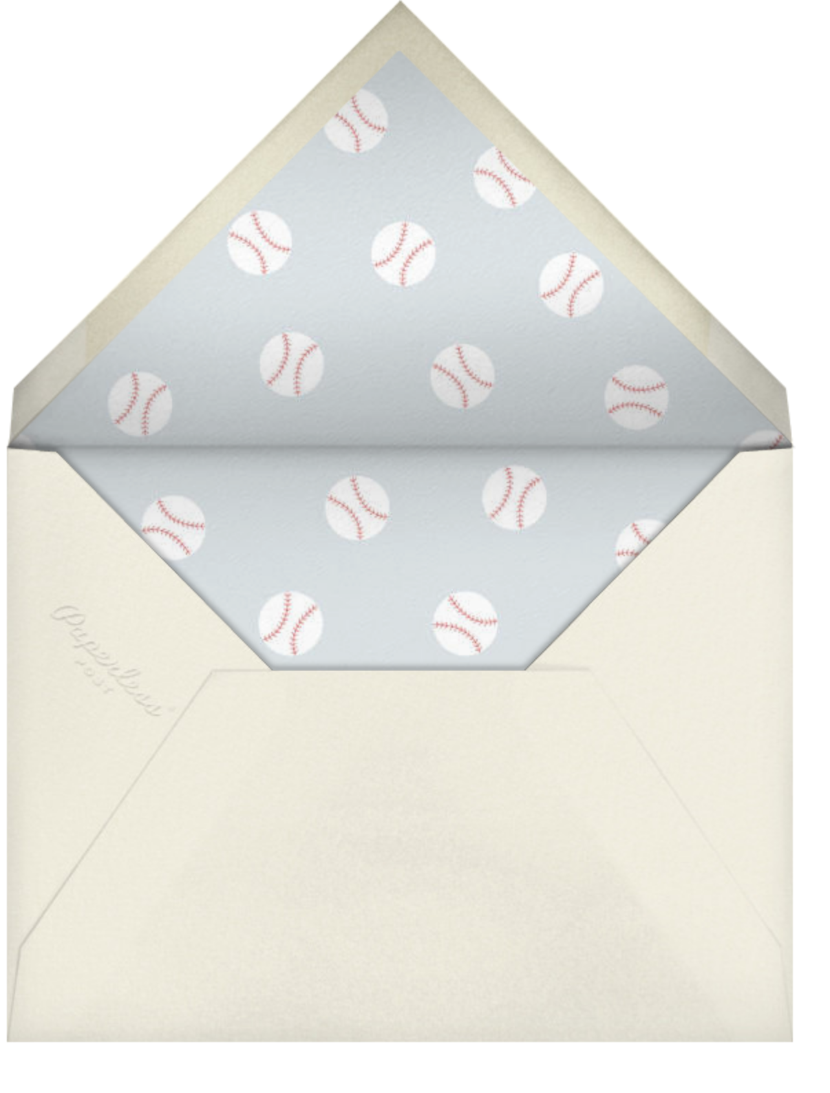 Baseball - Paperless Post - Autumn entertaining - envelope back