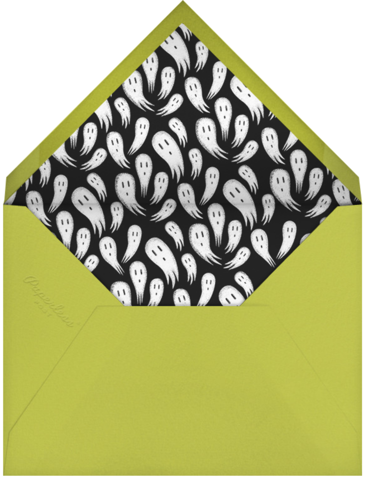 Wicked - Mulberry/Chartreuse - Paperless Post - Halloween - envelope back