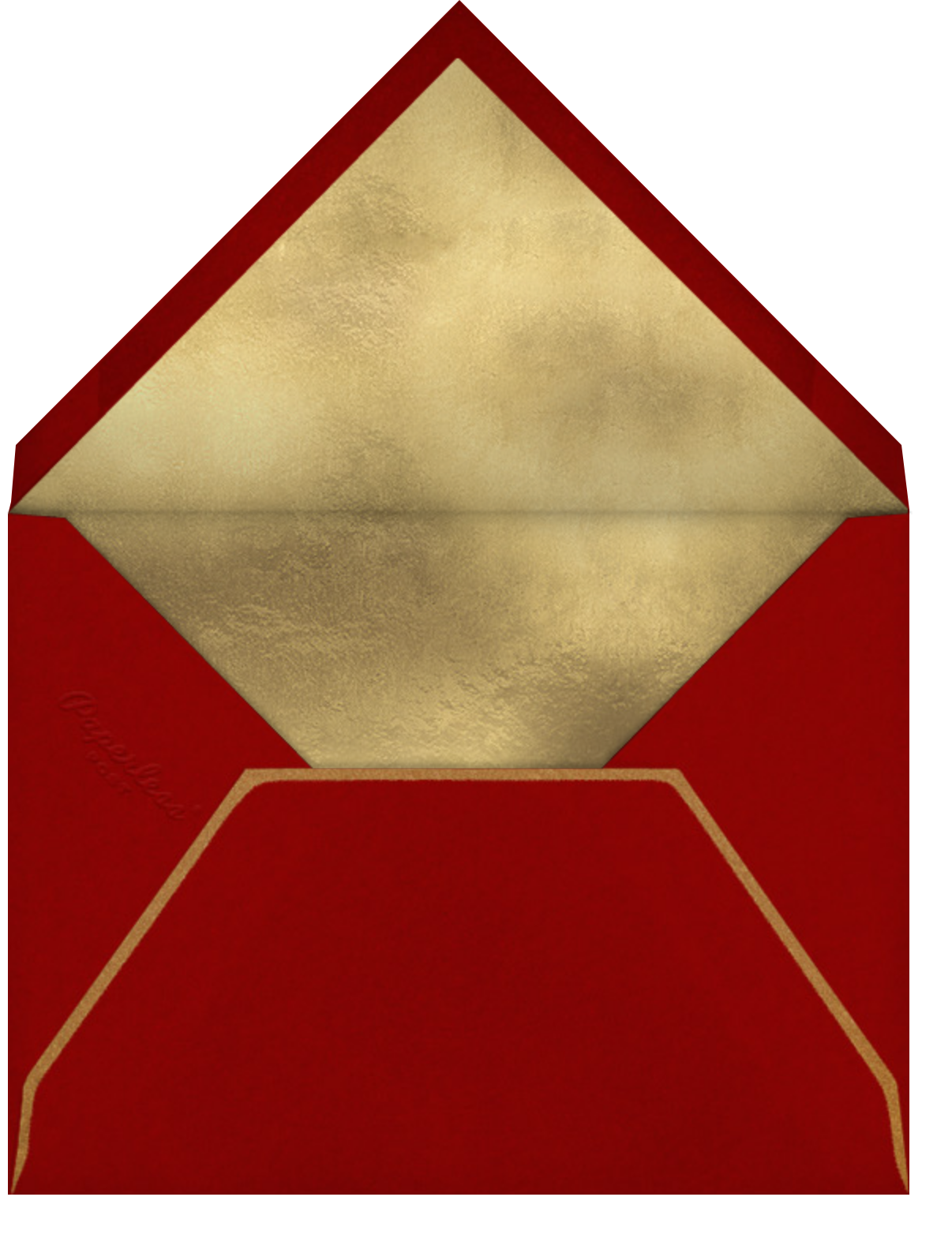 Classic Heart - Red - Paperless Post - Anniversary - envelope back
