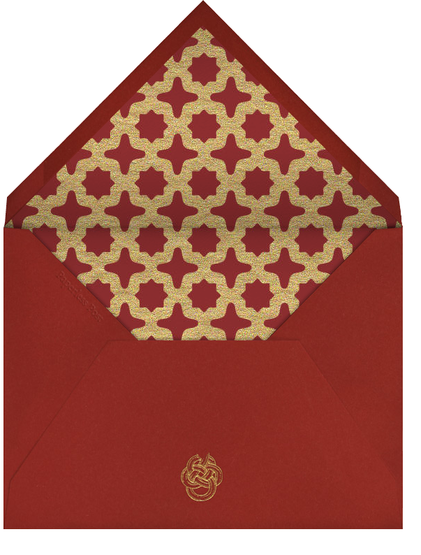Dragon Coin - Gold - Paperless Post - Lunar New Year - envelope back