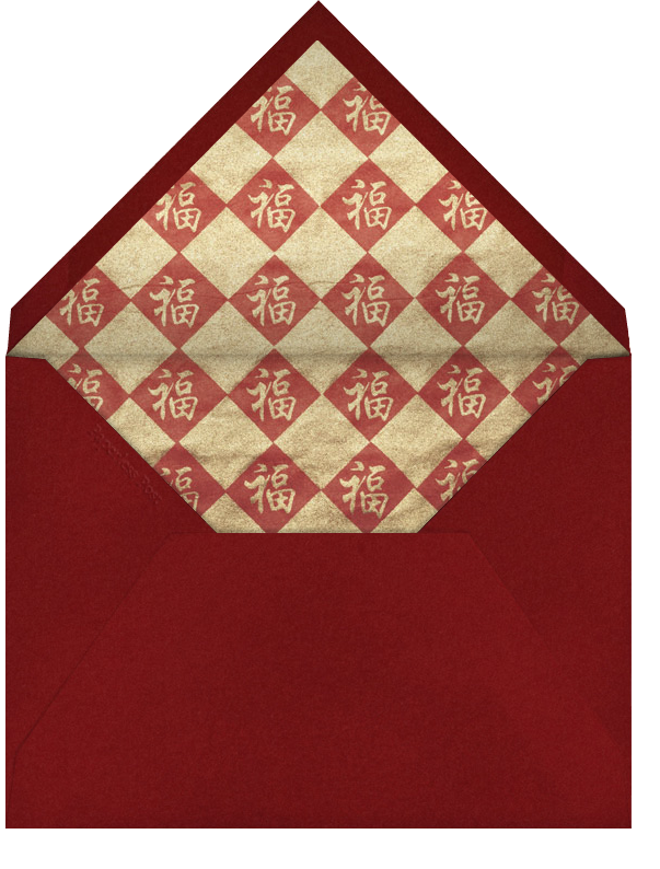 Dragon Coin - Cardinal - Paperless Post - Lunar New Year - envelope back