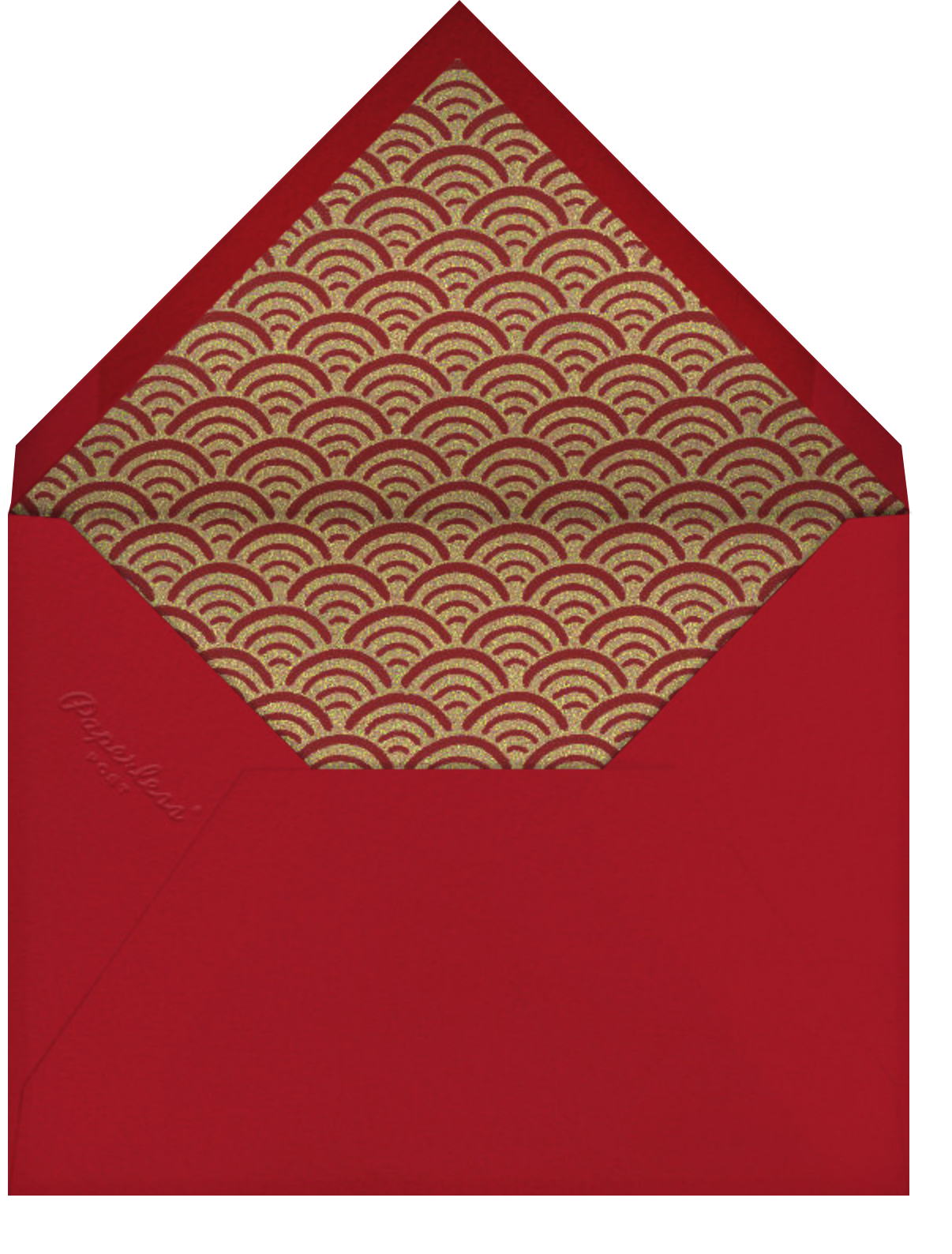 Good Fortune - Paperless Post - Lunar New Year - envelope back