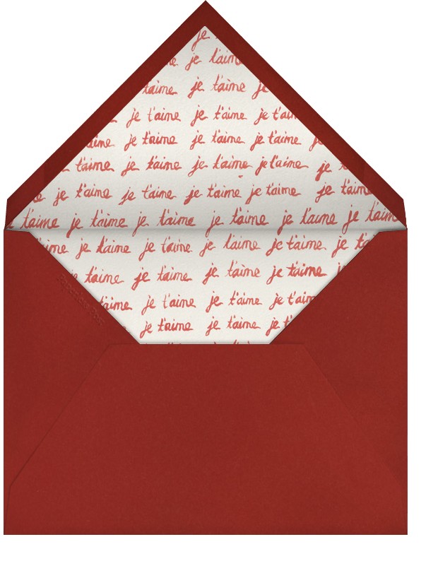 Je t'aime Heart - Paperless Post - Valentine's Day - envelope back