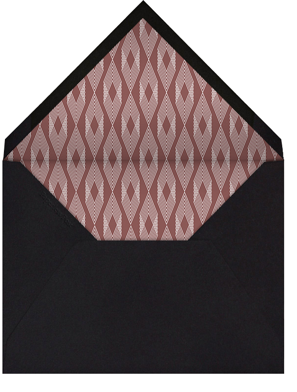Dentelle (Black) - Paperless Post - Valentine's Day - envelope back