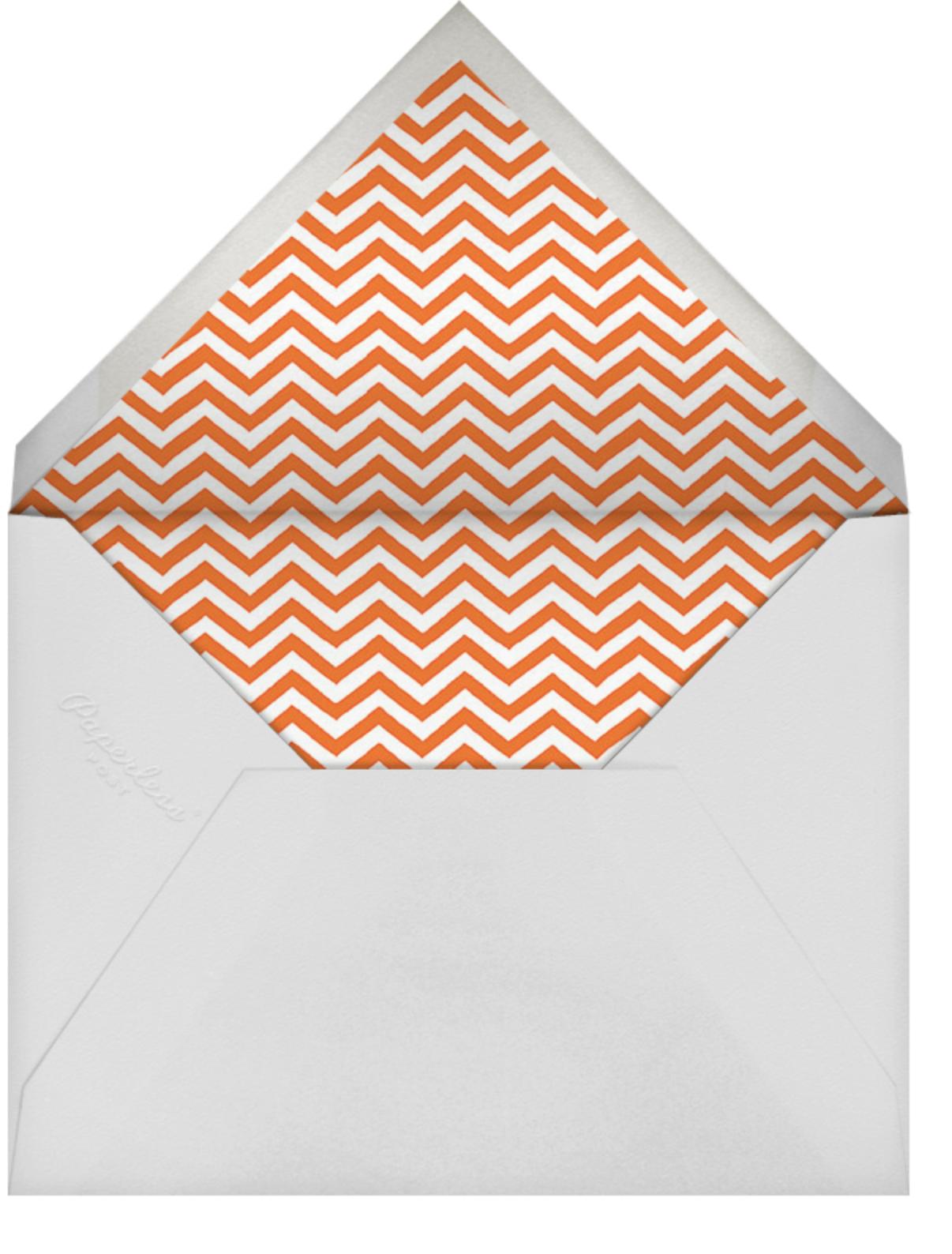 Orange Gimlet - Linda and Harriett - Cocktail party - envelope back